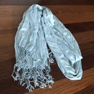 Accessories - Shimmery Silver Scarf